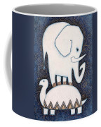 An Elephant On A Turtle Coffee Mug
