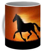 The Running Horse Background Coffee Mug