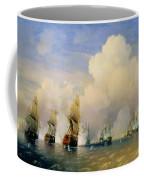 The Russo Swedish Sea War Near Kronstadt In 1790  Coffee Mug by Aleksei Petrovich Bogolyubov