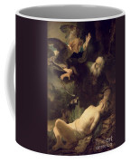 The Sacrifice Of Abraham Coffee Mug by Rembrandt
