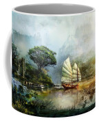 Sailing Boat In The Lake Coffee Mug