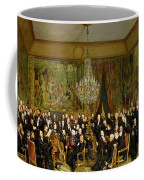 The Salon Of Alfred Emilien At The Louvre Coffee Mug by Francois Auguste Biard