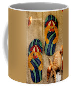 The Sands Of Summer - Flip Flops Coffee Mug
