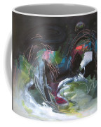 The Secret Of The Shadow Original Abstract Colorful Landscape Painting For Sale Red Blue Green Coffee Mug