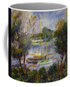 The Seine At Argenteuil Coffee Mug by Pierre Auguste Renoir