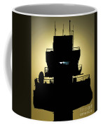 The Setting Sun Silhouettes An Air Coffee Mug