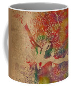 The Shawshank Redemption Movie Inspired Watercolor Portrait Of Tim Robbins On Worn Distressed Canvas Coffee Mug