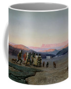 The Shepherds Led By The Star Arriving At Bethlehem Coffee Mug by Octave Penguilly lHaridon