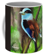 The Silver Breasted Broadbill Coffee Mug