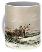 The Snow Coffee Mug by Charles Francois Daubigny