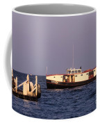 The Sonny S Ferry Docking At Middlebass Island Coffee Mug