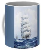 The Square-rigged Wool Clipper Argonaut Under Full Sail Coffee Mug