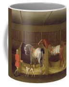 The Stables And Two Famous Running Horses Belonging To His Grace - The Duke Of Bolton Coffee Mug
