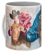 The Steer Wrestler Coffee Mug