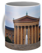 The Steps Of The Philadelphia Museum Of Art Coffee Mug by Bill Cannon