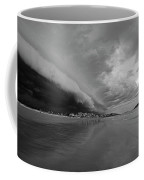 The Storm Rolling In To Good Harbor Beach Gloucester Ma Black And White Coffee Mug