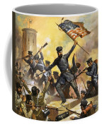 The Storming Of The Fortress At Chapultec Coffee Mug by English School