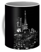 The Strip By Night B-w Coffee Mug