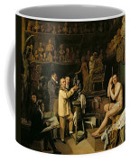 The Studio Of Jean Antoine Houdon Coffee Mug