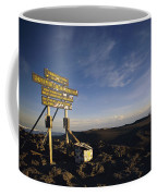 The Summit Of Mt. Kilimanjaro, Africas Coffee Mug