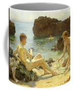 The Sun Bathers Coffee Mug by Henry Scott Tuke