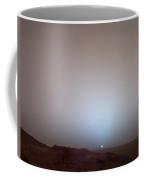 The Sun Setting Below The Rim Of Gusev Coffee Mug