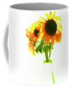 The Sunflowers In A Glass Vase. Coffee Mug