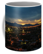The Sunset From Popago Park Phoenix Arizona Az Golden Coffee Mug