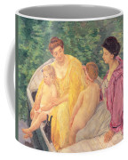 The Swim Or Two Mothers And Their Children On A Boat Coffee Mug