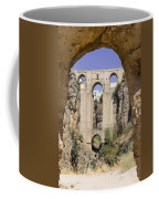 The Tajo De Ronda And Puente Nuevo Bridge Andalucia Spain Europe Coffee Mug