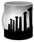 The Temple Of Hercules. Agrigento, Sicily.    Black And White Coffee Mug