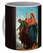 The Temptation Of Christ By The Devil Coffee Mug