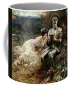 The Temptation Of Sir Percival Coffee Mug by Arthur Hacker