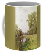 The Thames At Purley Coffee Mug by William Bradley