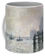 The Thames Below Westminster Coffee Mug by Claude Monet