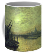 The Thames By Moonlight With Southwark Bridge Coffee Mug