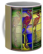 The Three Flamingos Coffee Mug