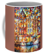 The Three Friends - Palette Knife Oil Painting On Canvas By Leonid Afremov Coffee Mug