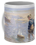 The Toy Boat Coffee Mug by William Marshall Brown