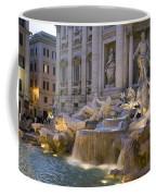 The Trevi Fountain At Dusk Coffee Mug