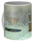 The Trianon Under Snow Coffee Mug