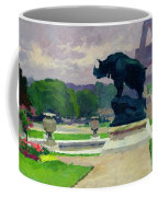 The Trocadero Gardens And The Rhinoceros Coffee Mug by Jules Ernest Renoux