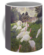 The Turkeys At The Chateau De Rottembourg Coffee Mug by Claude Monet