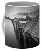 The Twisted Pier Bw Coffee Mug