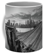 The Twisted Pier Panorama Bw Coffee Mug