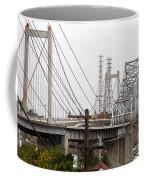 The Two Carquinez Bridges At Crockett And Vallejo California . Aka Alfred Zampa Memorial Bridge . 7d8919 Coffee Mug