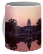The U.s. Capitol Building Reflected Coffee Mug by Kenneth Garrett