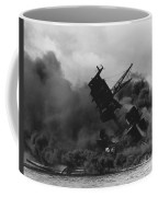 The Uss Arizona Bb-39 Burning After The Japanese Attack On Pearl Harbor Coffee Mug
