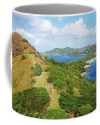The View From Fort Rodney On Pigeon Island Gros Islet Blue Water Coffee Mug
