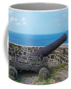 The View From Fort Rodney On Pigeon Island Gros Islet Saint Lucia Cannon Coffee Mug
